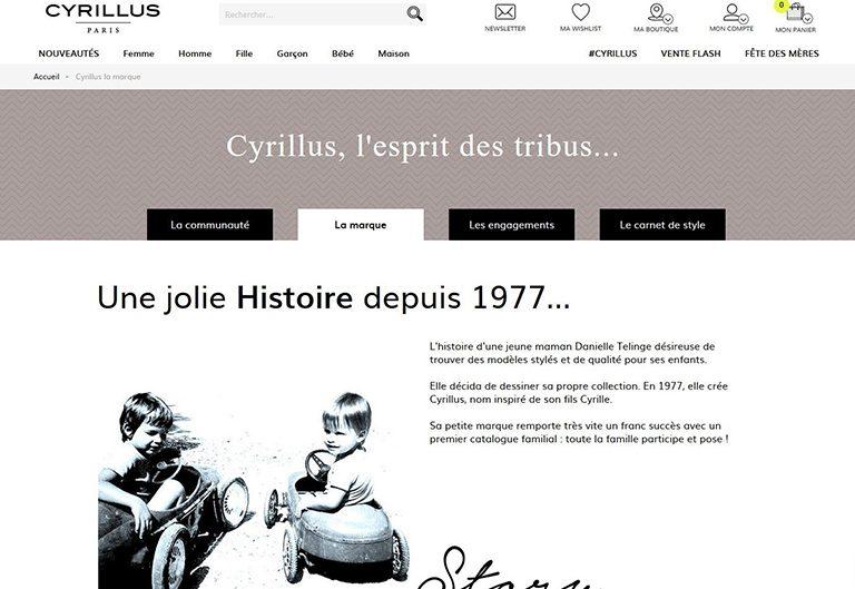 Page à propos Cyrillus