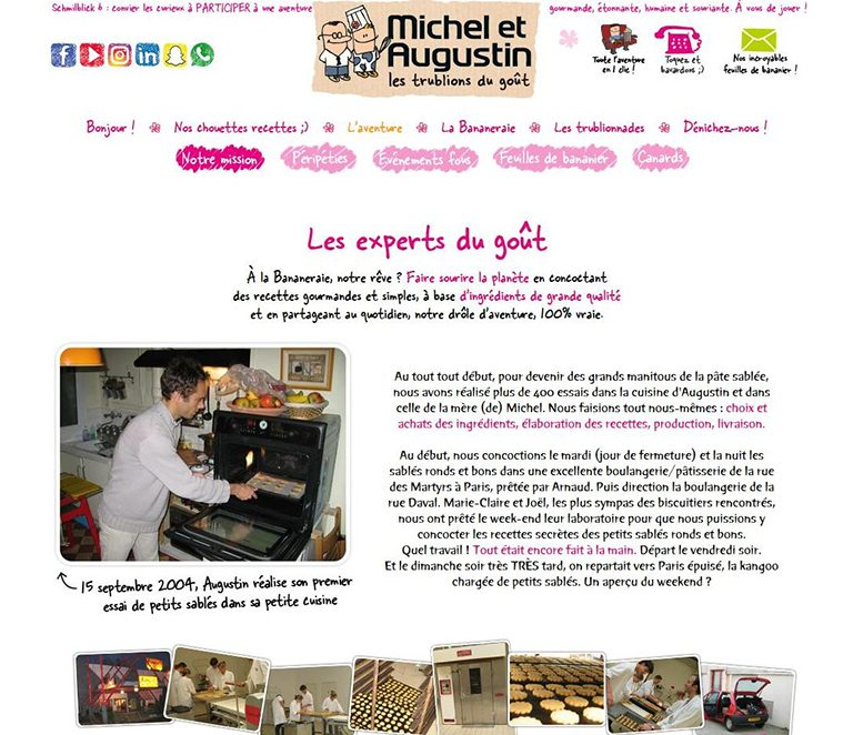 Page à propos Michel et Augustin