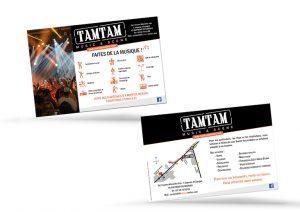Flyer pour les magasins Tamtam Music & Scene